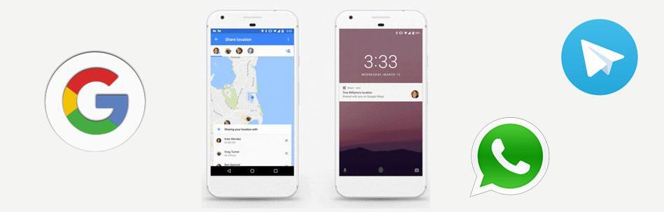 Как  поделиться  данными  о  своем  местоположении  в  Whatsapp,  Telegram  и  Google  Maps